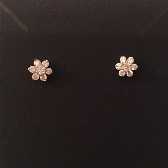 d525db883b640 Diamonique flower earrings from QVC